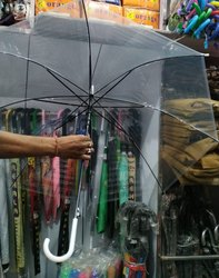 Plain Plastic Transparent Umbrella