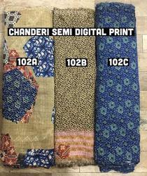 Chanderi Semi Digital Garments Fabric