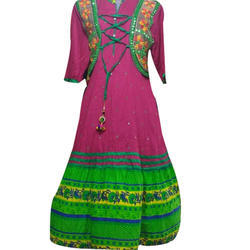 Ladies Cotton Jacket Anarkali Kurti