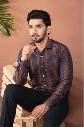 Cotton/Linen Designer Shirts for Men