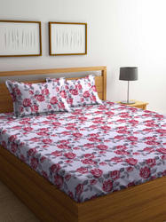 Cotton Floral Print Printed Bedsheet