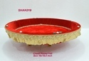 Chaab Round Kundan Work Baskets