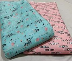 Multicolor Blend Digital Printed Fabric, For Garments, GSM: 50-150