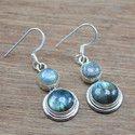 925 Sterling Silver Earring Labradorite Gemstone Earring
