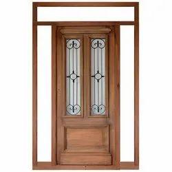 Brown Wooden Grill Door
