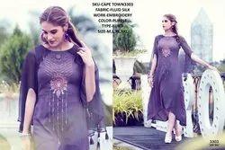 Rachna Fluid Silk Pattern Cut Work Cape Town Catalog Kurti For Women 3