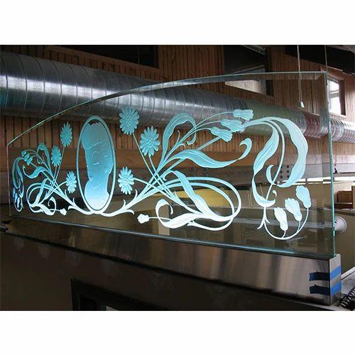 Sand Carved Floral Panel