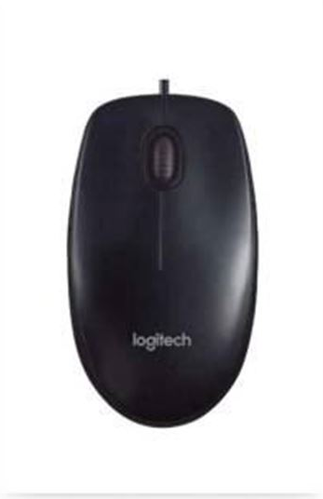 3411db7e6a0 Black Logitech B100 Optical Wired USB Mouse, Rs 249 /piece | ID ...