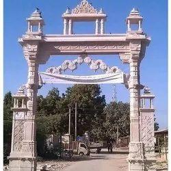 Marble Temple Gate Construction Service