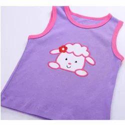 Cotton Multicolor Sleeveless Baby T-Shirt
