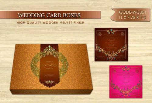 ractangular designer wedding invitations box size 11x7 75x1 5 rs
