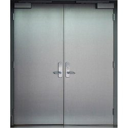 Silver Metal Door