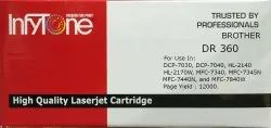 Brother DR 360 (DR 360) Compatible Black Toner Cartridge for Brother Printers