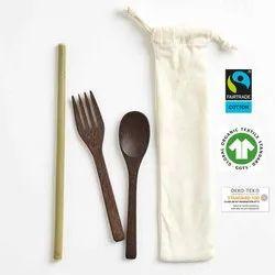 Organic Cotton Cutlery Bag