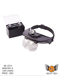 Adjustable Headband Magnifying Glass with Replacement Lenses