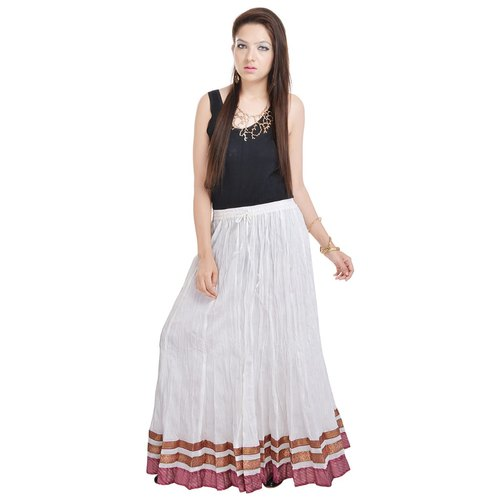 a6099d130 Ladies Skirts - Cotton Plain Bordered Long Skirts Manufacturer from Jaipur