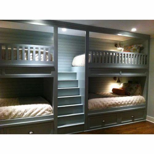 Dark Brown Double Bunk Wooden Bed Rs 25000 Piece Sketch Villa