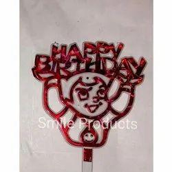 Bheem Plastic Birthday Cake Tag