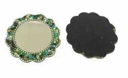 Lakh Mirror Home/Table Decor Multicolor Item