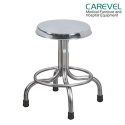 Carevel Stainless Steel Revolving Patient Stool