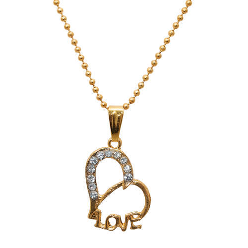 Golden free size heart shape pendant with chain rs 100 set id golden free size heart shape pendant with chain aloadofball Image collections