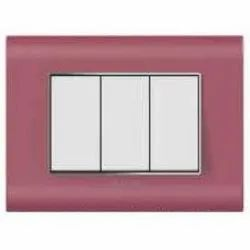 Curve Plus Series Cerise Pink Switch Plate
