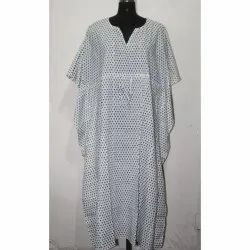 Indian Hand Block Printed Cotton Kaftan Dress