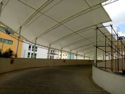 Walkway Cover Tensile Shed