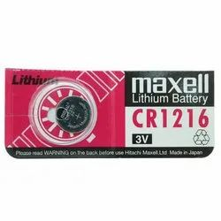 Maxell CR 1216 Lithium Coin Cell Battery
