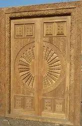 Sagwan Wooden Front Doors in Rajpura