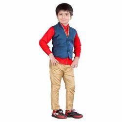 Cotton Plain Kids Designer Dress
