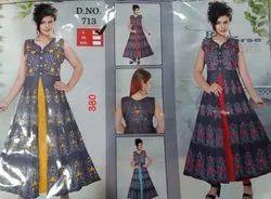 Silk Party Wear Rayon Kurti, Wash Care: Machine wash