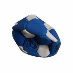 Blue And White Football Ball