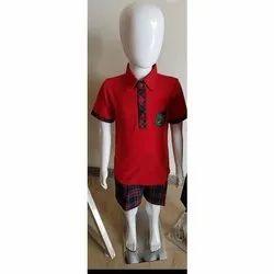 Summer Namo Clothing Half Sleeve School T Shirt, Size: 22-42