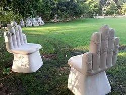 Modern stone bench
