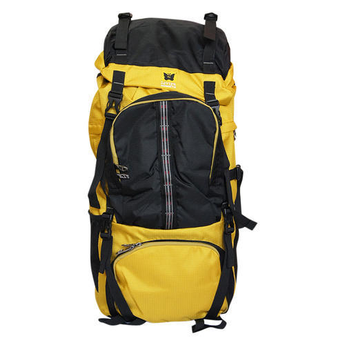 Yellow And Black Travel Backpack