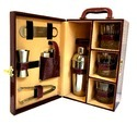 Bar Set Brown Leather Crocodile