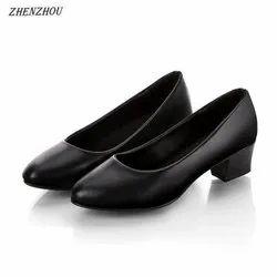Office Wear Black Ladies Formal Shoes, Packaging Type: Box