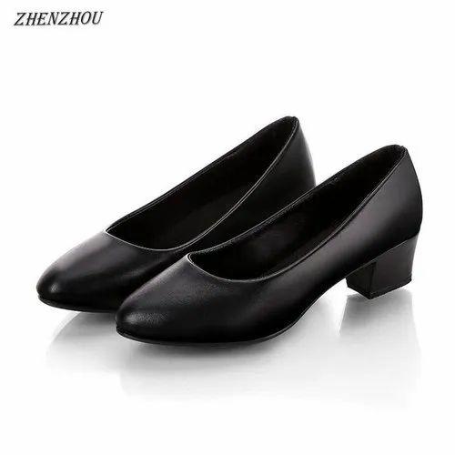 Office Wear Black Ladies Formal Shoes