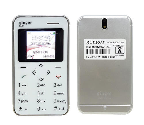 Ginger G9 White Mobile Phone with Camera, Expandable Memory: upto 8GB