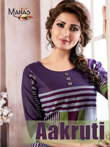 57a515da27 Designer Fancy Kurti - Vink Rio Vol 2 Linen Cotton Work Kurti Manufacturer  from Surat