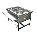 6 Hole Bain Marie Counter