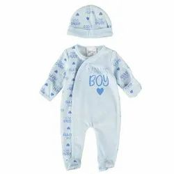 Baby Boy Sleepsuit With Cap