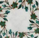 Stone  Style Marble Inlaid Table Top Pietra Dura Table Top