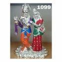 Silver Plated Radha Krishna Statue