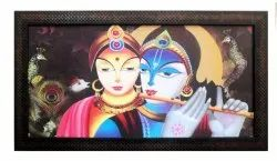 Decorative Paintings Radha Krishna (Printed Texture Framed Painting size 12x24 inch)