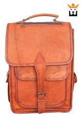 Small One Loop Leather Backpack