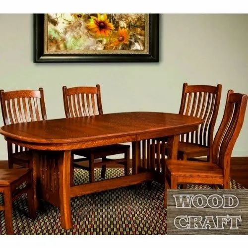 Wood Craft Brown Fancy Wooden Dining, Wood Craft Furniture