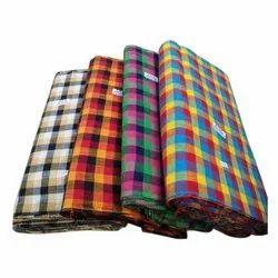 Multicolor Checked Handloom Cotton Fabric