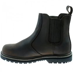 Leather Black Men Safety Boot